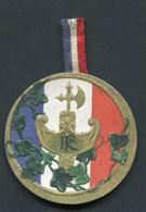 """WWI - Médaille Carton De Poilu """"Journée Des Régions Libérées"""" WW1 - 1914-18"""
