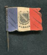 """WW1 Drapeau """"Journée De Poilu - Alsace / La Journée Française 1915 Secours National"""" WWI - 1914-18"""