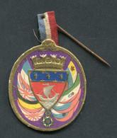 """WWI - Médaille Carton """"Journée De La Ville De Paris 14 Juillet 1915"""" WW1 - 1914-18"""