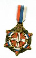 "WW1 - Insigne De Poilu En Carton ""Journée Serbe 25 Juin 1916"" French Medal WWI - 1914-18"