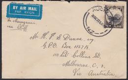 1935 4d MITRE PEAK SINGLE USE TO AUSTRALIA - Covers & Documents