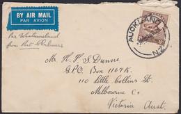 1935 8d TUATARA SINGLE USE TO AUSTRALIA - Covers & Documents