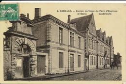 Cadillac (33 Gironde) école Supérieure - édition Papier Glacé Type Carte Photo - Cadillac