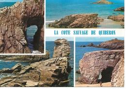 56 -La Cote Sauvage De QUIBERON :l'arche De Port-Bara,l'Anse De Port-Rho,la Pointe De Beg-er-Naud   *CM En Bon état * - Quiberon