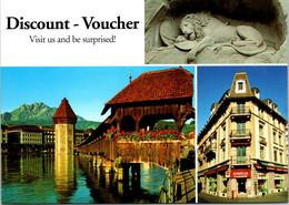 (3 A 21) Switzwerland - Discount Voucher (Luzern City Postcard) - LU Lucerne