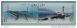 2009-11 CHINA BRIDGES OVER HANG ZHOU BAY 2V STAMP - Ongebruikt