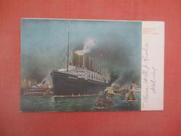 Night View Harbor Steamer Kaiser Wilhelm II  New York > New York City      Ref 5186 - Zonder Classificatie