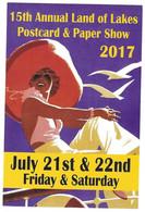EAGAN MINNESOTA ETATS UNIS - CARTE ILLUSTREE LAND OF LAKES POSTCARD AND PAPER SHOW 2017, SALON DE COLLECTION, A VOIR - Beursen Voor Verzamellars