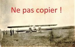 PHOTO FRANCAISE - AVION AU TERRAIN D'AVIATION DE LE FRETOY ( FRESTOY ET VAUX ) PRES DE TRICOT OISE - GUERRE 1914 1918 - 1914-18