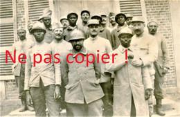 PHOTO FRANCAISE - LES PATROUILLEURS SENEGALAIS A LE FRETOY ( FRESTOY ET VAUX ) PRES DE TRICOT OISE - GUERRE 1914 1918 - 1914-18