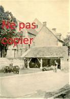 PETITE PHOTO FRANCAISE - LES CHEVAUX AU LAVOIR A BLANZY LES FISMES PRES DE BAZOCHES SUR VESLES AISNE  GUERRE 1914 1918 - 1914-18