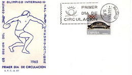 [C0570] España 1965, FDC Asamblea Del Comité Olímpico Internacional. Madrid (NS) - FDC