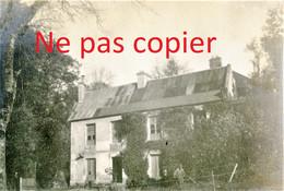 4 PETITES PHOTOS FRANCAISES - RECONSTRUCTION ET PARC DU CHALET A CUFFIES PRES DE SOISSONS AISNE  GUERRE 1914 1918 - 1914-18