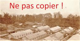 2 PETITES PHOTOS FRANCAISES - L'AMBULANCE DE LA SABLIERE A CUFFIES PRES DE SOISSONS AISNE  GUERRE 1914 1918 - 1914-18