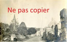 PETITE PHOTO FRANCAISE - UNE RUE DE CUFFIES PRES DE PASLY - SOISSONS AISNE  GUERRE 1914 1918 - 1914-18