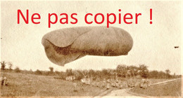 PETITE PHOTO FRANCAISE - LE BALLON SAUCISSE A CUFFIES PRES DE PASLY - SOISSONS AISNE  GUERRE 1914 1918 - 1914-18