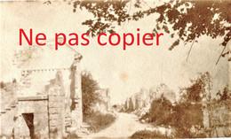 2 PETITES PHOTOS FRANCAISES - UNE RUE DE CLAMECY PRES DE CROUY - SOISSONS AISNE  GUERRE 1914 1918 - 1914-18