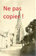 2 PETITES PHOTOS FRANCAISES - L'EGLISE ET LE CHATEAU DE VIC SUR AISNE PRES DE BERNY RIVIERE AISNE -  GUERRE 1914 1918 - 1914-18