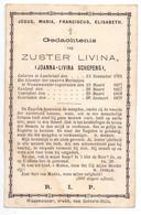 Devotie Doodsprentje Overlijden - Zuster Livina - Joanna Schepens - Lochristi 1791 - Waasmunster 1879 - Todesanzeige