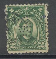 Philippines - Philippinen 1906-14 Y&T N°204A - Michel N°237 (o) - 2c J Rizal - Perforé ARC - Filippijnen