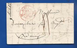 Lettre Du  25 Janv 1832  De AURZET   à Destination De BEDARIEUX - 1801-1848: Voorlopers XIX