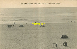 Dépt. 40, Série  Biscarrosse-Plage, N° 5, La Plage, Voir Tentes - Biscarrosse