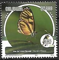 Colombia - MNH** 2021 : Ithomia Alienassa - Farfalle