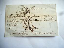 LAC 1842 CHALON SUR SAONE Pour SAONE ET LOIRE TAXE 2 DECIMES - 1801-1848: Voorlopers XIX