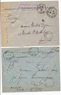 2 X PLIS AVEC IMPRIMES PARIS PP ( UN PP37 ET UN PP46) - 1921-1960: Modern Period