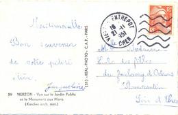 DAGUIN FLAMME MUETTE DROITE VIERZON ENTREPOT CHER Du 21-11-1951 - Mechanical Postmarks (Other)