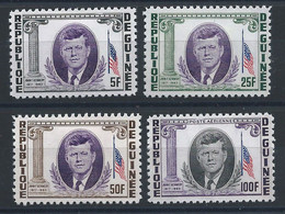 Guinée N°187/89 + PA 40* (MH) 1964 - John F. Kennedy - Guinea (1958-...)