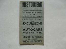 VIEUX PAPIERS - NICE -TOURISME : Programme Et Tarif Des EXCURSIONS En AUTOCARS PULLMAN SANTA - Europa
