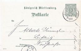 Duitsland- Oude Duitse Staten- Wurttemberg Briefkaart Uit 1901 (3357) - Wuerttemberg
