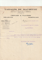 59-Chenard & Walcker..Garages  Delahaye, Rosengart....Maubeuge..(Nord)...1929 - Cars