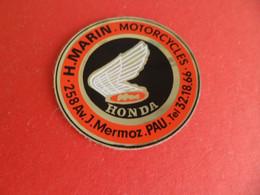 Autocollant Motorcycles Moto HONDA - H. MARIN à PAU - Pyrénées-Atlantiques - Autocollants