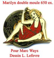 Pin's Pin'up Marilyn Rouge Double Moule Ballard - Pin-ups