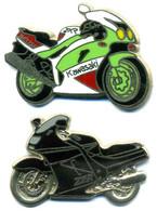 2 Pin's Moto Kawasaki ZZR ZXR 750 Ballard - Moto