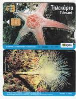 CYPRUS - Sea Star, Underwater 3 Euro, Tirage 20000, 01/10, Used - Pesci