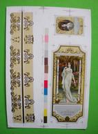 Publicité De Parfum Daver Paris Illustrée épreuve D'imprimeur Beautiful Illustrated Perfume Advertisement Printer Proofs - Unclassified