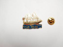 Superbe Pin's En EGF , Marine Bateau Voilier , Le Belem , Signé Jyfsa - Barche