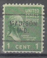 USA Precancel Vorausentwertungen Preos, Locals Indiana, Madison 703 - Vorausentwertungen