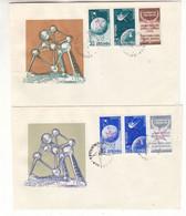 Roumanie - 6 Lettres FDC De 1958 - Oblit Expo Universelle De Bruxelles - Espace - Valeur ± 180 Euros - Rare - Cartas