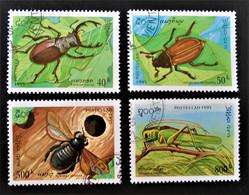 INSECTES 1995 - OBLITERES - YT 1196/99 - MI 1481/84 - Laos