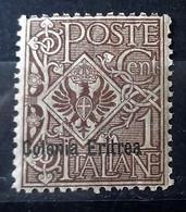 ITALIA COLONIE ERITREA 1903 FLOREALE  NUOVO MNH** - Eritrea