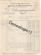 30 0892 ALAIS ALES GARD 1910 Cycles Automobiles D. CHAMPEYRACHE Avenue Carnot Et Bd Gambetta Dest MOURGUES - Cars