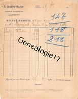 30 0895 ALAIS ALES GARD 1907 Cycles Automobiles D. CHAMPEYRACHE Avenue Carnot Et Bd Gambetta Dest MOURGUES - Cars