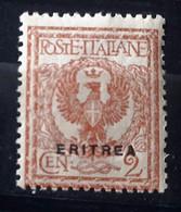 ITALIA COLONIE ERITREA 1924 FLOREALE  NUOVO MNH** - Eritrea