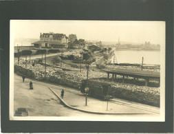 35 St Malo 1944-45 La Gare Du Tramway Après Les Bombardement Ruines De Guerre Photo Beroul Train Wagon Le Port - Saint Malo