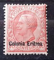 ITALIA COLONIE ERITREA 1908   NUOVO MNH** - Eritrea
