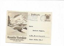 Ganzsachenkarte Aus Garmisch 1936 - Cartas